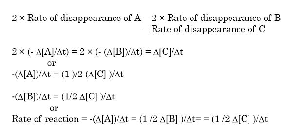 Rate of disappearance