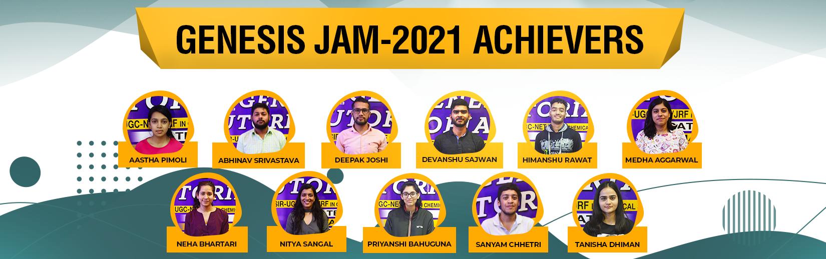 IIT JAM 2021 Student Results -Genesis Tutorials